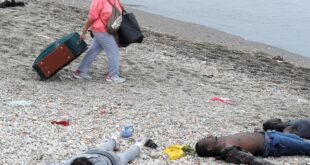 Migrants at the Spanish enclave of Ceuta